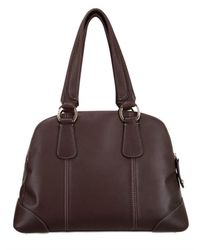 Lancel | Brown Deer Leather Miss Adjani Medium Top Hand | Lyst