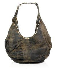 Sara Berman | Brown Decca Midi Studded Slouch Bag | Lyst