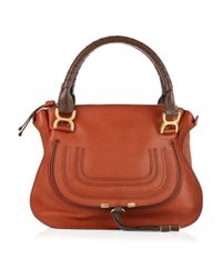 Chloé | Brown Marcie Leather Bag | Lyst
