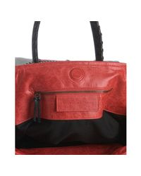 Balenciaga   Red Patchwork Lambskin Classic Sunday Tote   Lyst