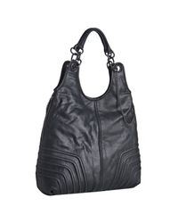 BCBGMAXAZRIA | Black Leather Urban Rocker Large Shoulder Bag | Lyst