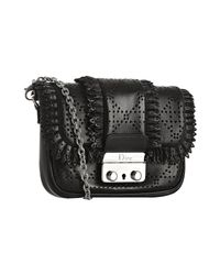 Dior | Black Leather New Lock Perforated Shoulder Bag | Lyst