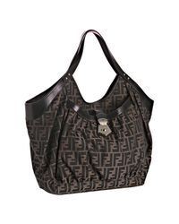 Fendi | Brown Monogrammed Bag | Lyst