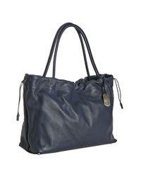 Furla | Blue Cobalt Pebbled Leather Violet Large Shopper Tote | Lyst
