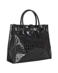Furla | Brown Coffee Croc Embossed Leather Greta Tote | Lyst