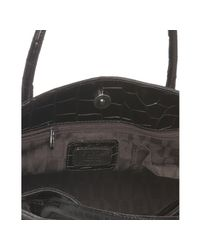 Furla   Brown Coffee Croc Embossed Leather Greta Tote   Lyst