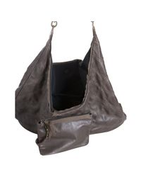 Lanvin - Brown Taupe Calfskin Quilted Oversized Hobo - Lyst