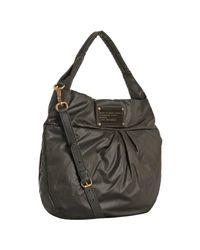 Marc By Marc Jacobs - Brown Newsprint Nylon Q Lil Riz Pleated Shoulder Bag - Lyst