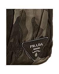 Prada - Gray Smoke Camo Print Fringe Clutch - Lyst