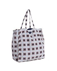 Prada | White Printed Nylon Tote Bag | Lyst