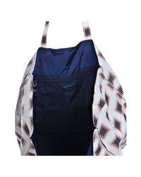Prada   White Printed Nylon Tote Bag   Lyst