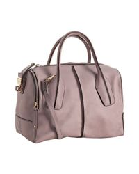 Tod's | Purple Lilac Calfskin D-bag Boston Bag | Lyst