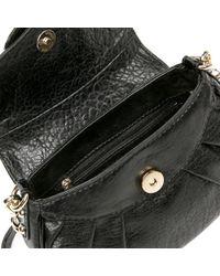 Guess Black Leona Mini Pebble Bag