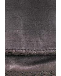 Bottega Veneta Purple Iridescent Leather Shoulder Bag