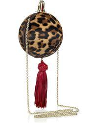 Christian Louboutin - Multicolor Eden Pompom Leopard Clutch - Lyst