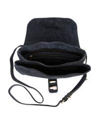 Tila March Blue Manon Suede Shoulder Bag