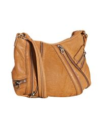 Marc By Marc Jacobs - Natural Camel Leather Zip Detail Cross Body Bag - Lyst