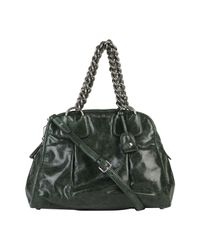 Miu Miu Green Vitello Chain Handle Bag