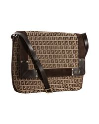 Fendi | Brown Mahogany Zucca Canvas Large Shoulder Bag | Lyst