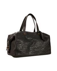 Céline | Black Pebbled Leather Boston Bag | Lyst