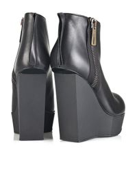 Acne Studios Black Hybria Leather Wedge Boots
