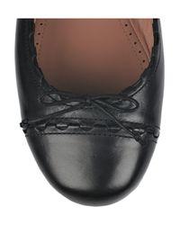 Alaïa - Black Leather Ballerina Flats - Lyst