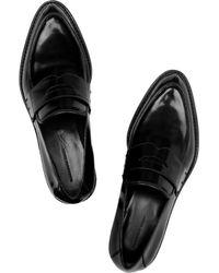 Alexander Wang Black Karmen Patent-leather Loafers