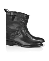 Belstaff | Black Barkmaster Leather Boots | Lyst