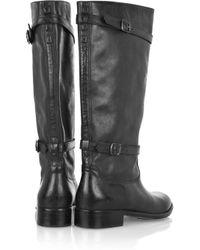 Belstaff Black Shannon Leather Boots