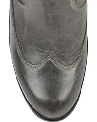 Belstaff Gray New Agnes Leather Boot