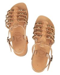 Bess Brown Stevie Studded Leather Sandals