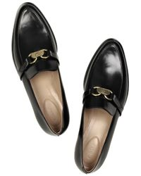 Chloé Black Roano Loafers