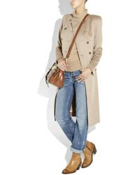 Chloé Brown Short Leather Cowboy Boots