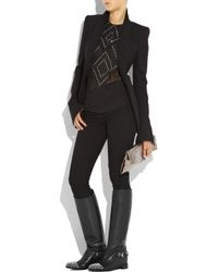 Christian Louboutin Black Egoutina Studded Leather Boots