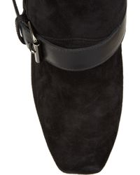 Christian Louboutin Black Guerriere 120 Suede Ankle Boots