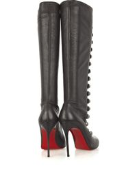 Christian Louboutin Brown Ronfifi Alta 100 Buttoned Boots