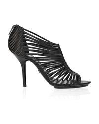 Emilio Pucci Black Studded Multi-strap Leather Sandals