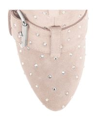 Giuseppe Zanotti Pink Crystal-embellished Suede Boots