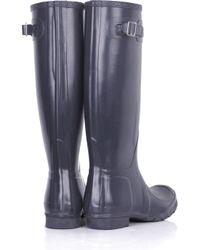 HUNTER Blue Original Tall Wellington Boots