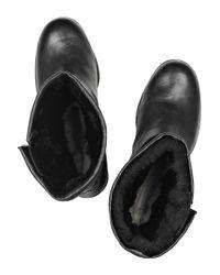 Jimmy Choo Black Biker Leather Boots