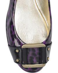 Jimmy Choo | Purple Morse Patent Leather Ballerina Flats | Lyst
