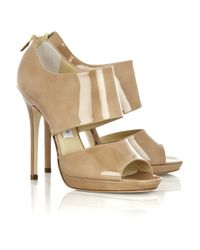 Jimmy Choo Natural Private Patent-leather Sandals