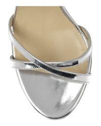 Jimmy Choo Metallic India Mirrored Leather Sandals