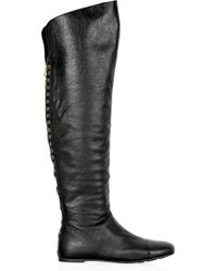 Marc By Marc Jacobs Grove Lace-up Leather Boots - Black