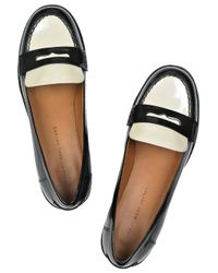 Marc By Marc Jacobs Black Two-tone Patent-leather Loafers