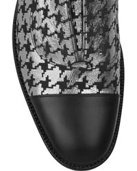Marc Jacobs Metallic Houndstooth Leather Brogues