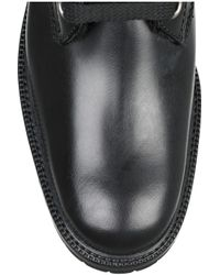 Marc Jacobs Black Shearling-lined Lace-up Leather Boots