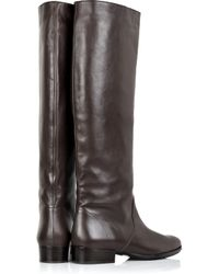 Michael Kors Brown Flat Leather Knee-high Boots