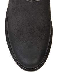 Miu Miu Black Studded Suede Biker Boots