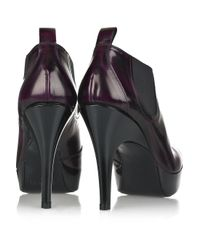 Pedro Garcia Purple Susan Patent-leather Pumps